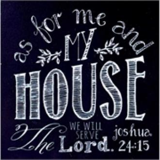 MAGHB 1020 Magnet - As For Me And My House We Will Serve The Lord